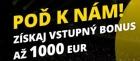 Fortuna: vstupný bonus 1000 EUR na stávkovanie!