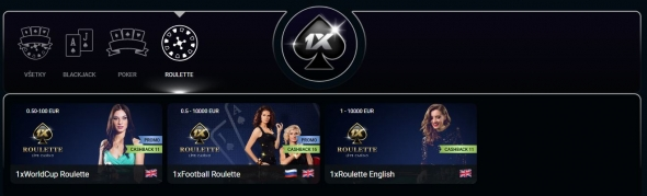 1xslots casino: rulety